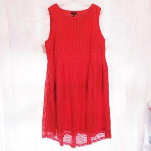 Apt. 9 Periwinkle Orange Eyelet high Low Dress 2X